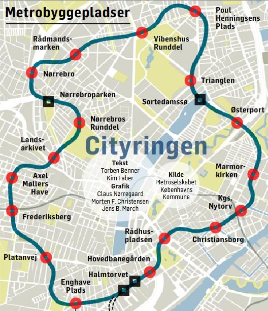 Copenhagen metro plans Lars