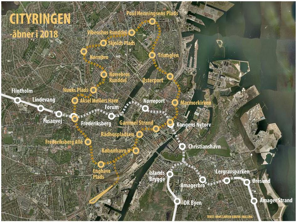 Copenhagen Metro Map 2018 Lars