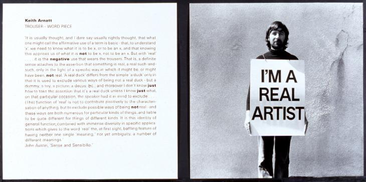 Trouser - Word Piece 1972-89 by Keith Arnatt 1930-2008