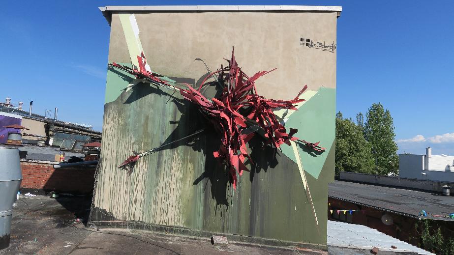 Graffiti Artist Dr Molrok Makes It 3d With Metal Deformed Sculptures