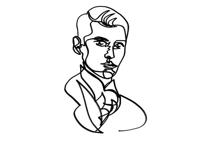 One Line Art Faces : Steffen seeger one line drawing i love graffiti de