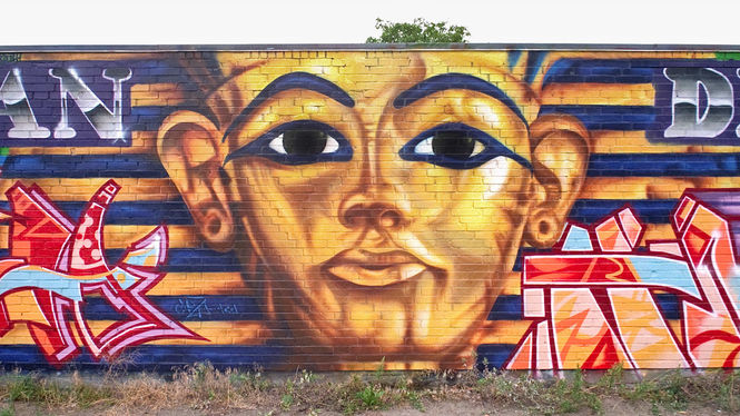 "Artists: DAIM (CAZA) | ""Tut Ench Amun"" | Hamburg / Germany | 1992"