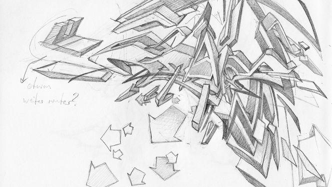 Artist: DAIM | pencil sketch on paper | 14,5 x 22 cm | 05.2009