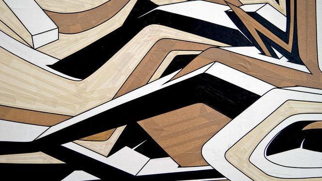 "Artist: Mirko Reisser (DAIM) | ""DEIM - from corner to corner"" | taping on wall | 370 x 1100 cm | 28.10.2007 | part of"