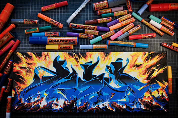 Molotow Paint Markers On Canvas